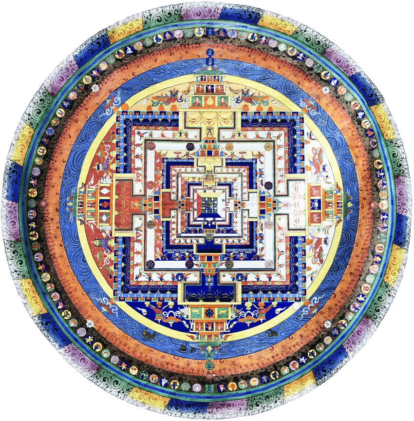 Das Mandala gemäß dem Kalachakra Tantra